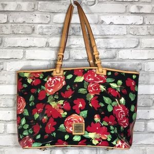 Dooney & Bourke Authentic Large Roses Tote Purse